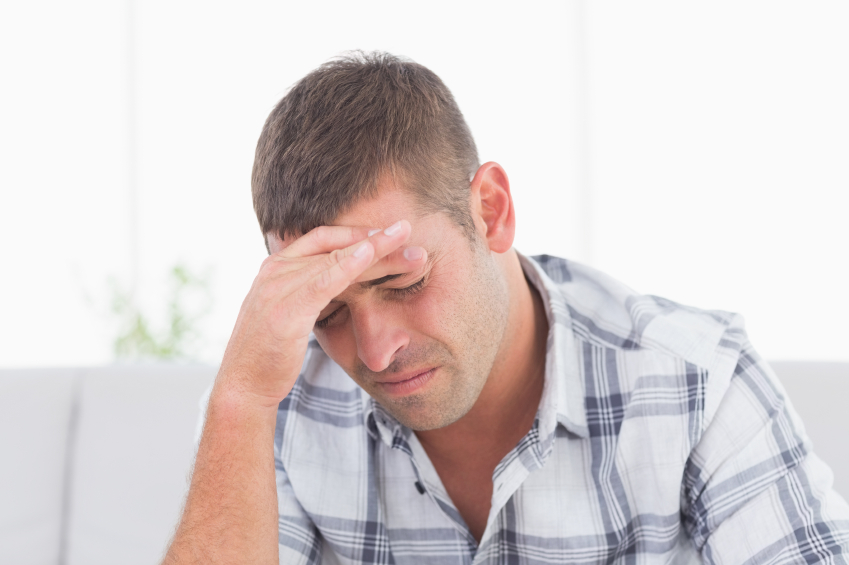 Man suffers from migraine