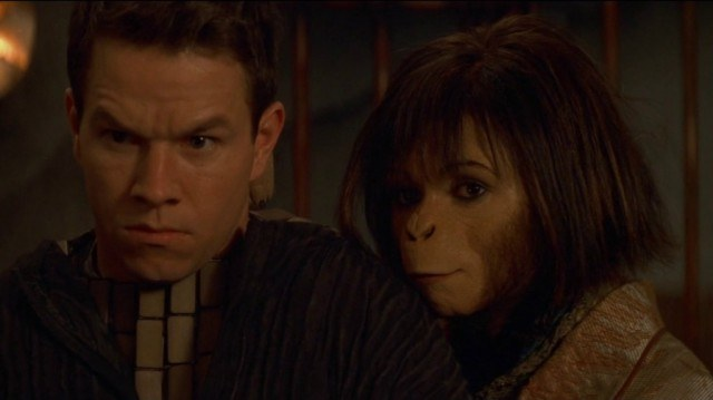 Mark Wahlberg and Helena Bonham Carter in Planet of the Apes
