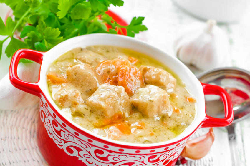 creamy chicken stew with carrots
