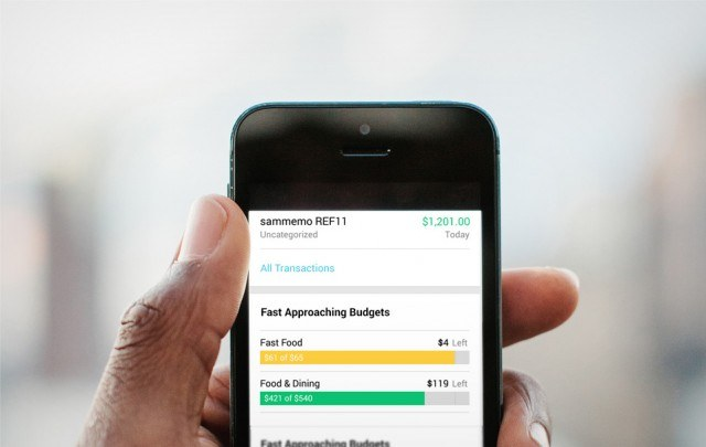 The Mint app for iPhone