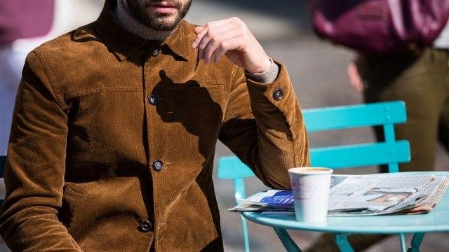 Oliver Spencer corduroy jacket at Mr. Porter