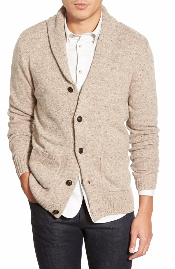 Original Penguin shawl collar cardigan