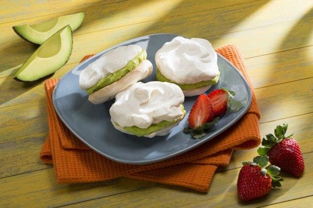 Lime Meringue with Avocado Mascarpone Cream