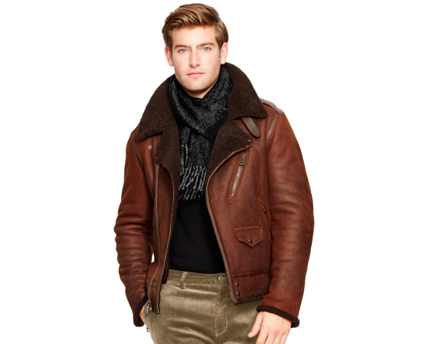 Ralph Lauren shearling biker jacket