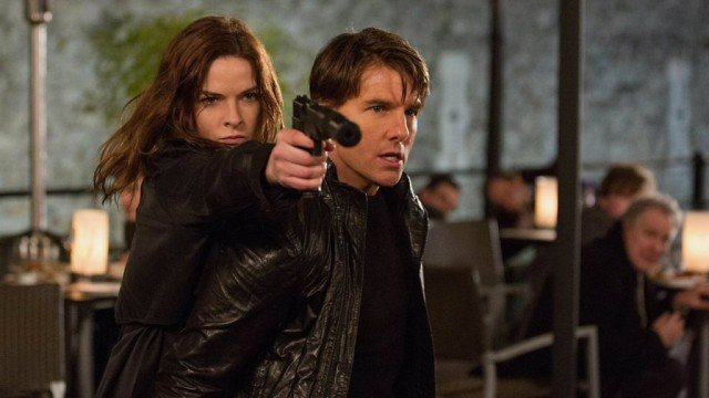 Rebecca Ferguson and Tom Cruise in 'Mission: Impossible - Rogue Nation'