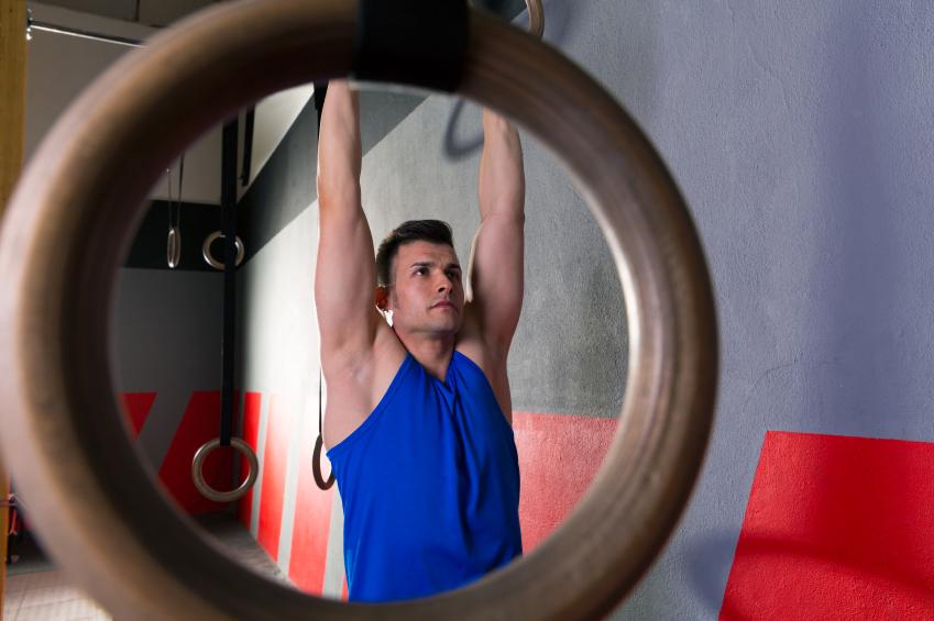 Man performing pull-ups