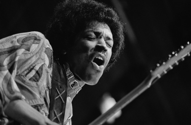 Rock guitar virtuoso Jimi Hendrix