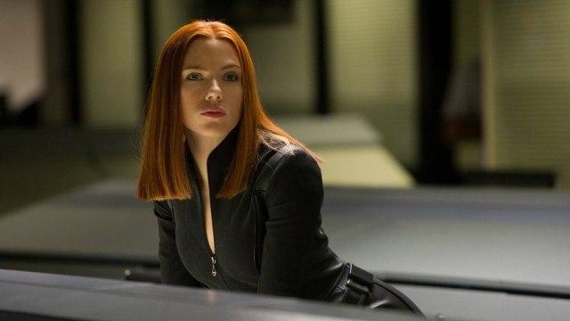Scarlett Johansson as Black Widow in Captain America: The Winter Soldier