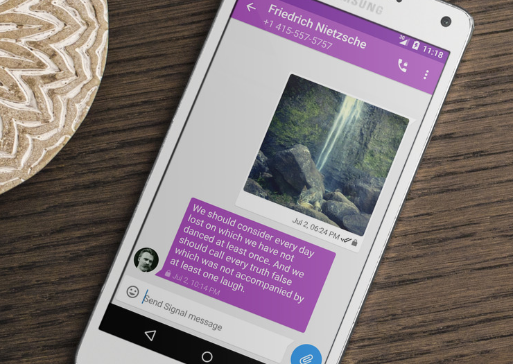 Signal encrypted messaging and calling app for Android