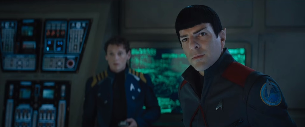 Zachary Quinto as Spock.