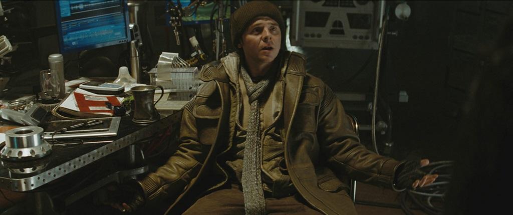 "Simon Pegg as Lieutenant Commander Montgomery ""Scotty"" Scott."