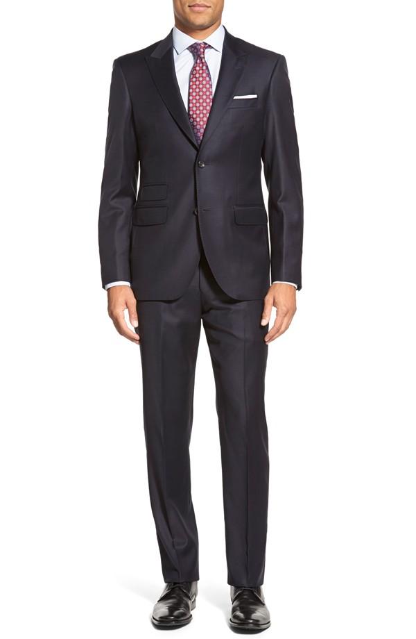 Strong Suit Cutlass trim fit solid wool suit