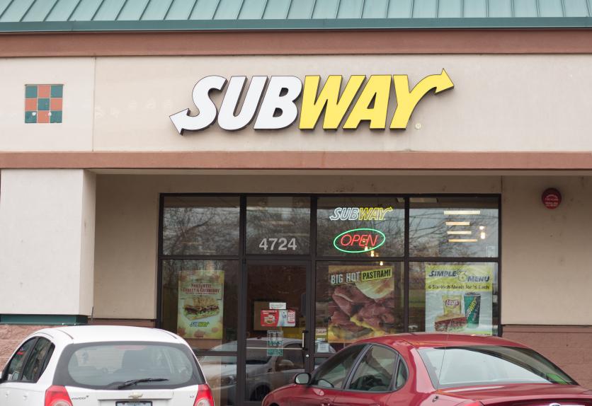storefront at a Subway restaurant
