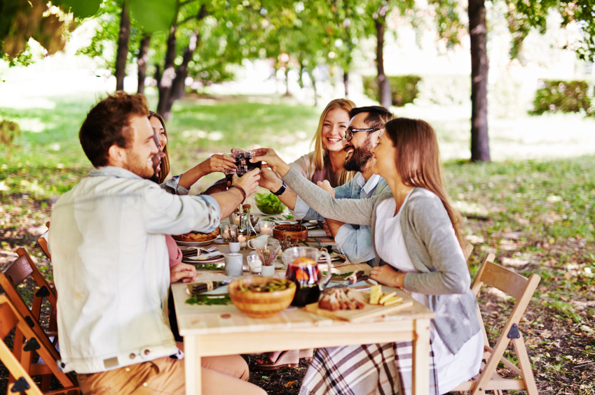 Thanksgiving dinner toast, wine