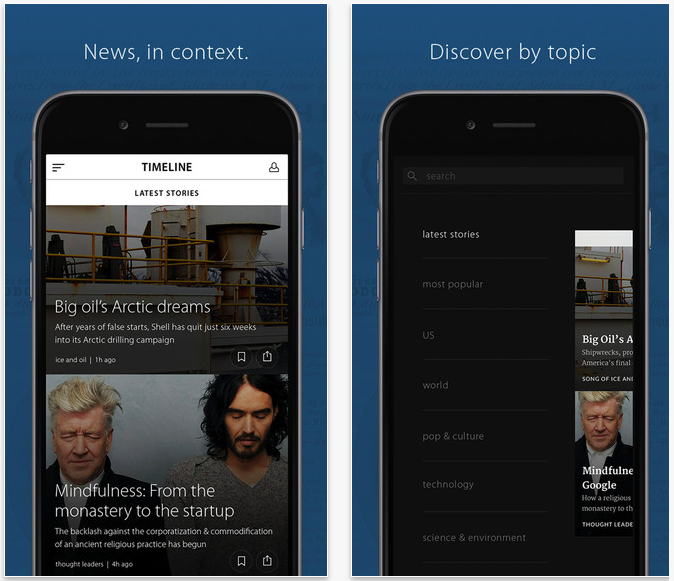 Timeline app for iPhone