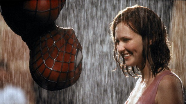 Tobey Maguire as Spider-Man and Kirsten Dunst as Mary Jane in Spider-Man