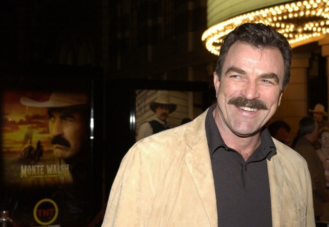 Tom Selleck At Film Premiere of Monte Walsh