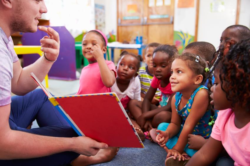 A teacher captivating his students