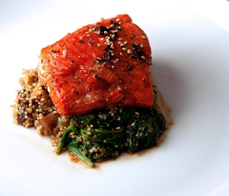 salmon and quinoa