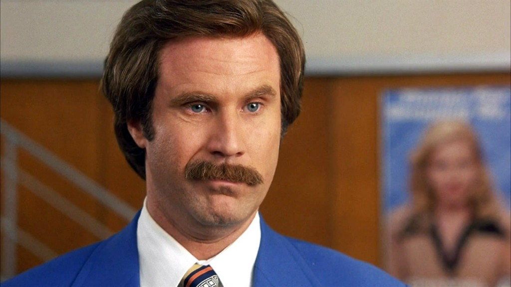 "Will Ferrell in ""Anchorman"""