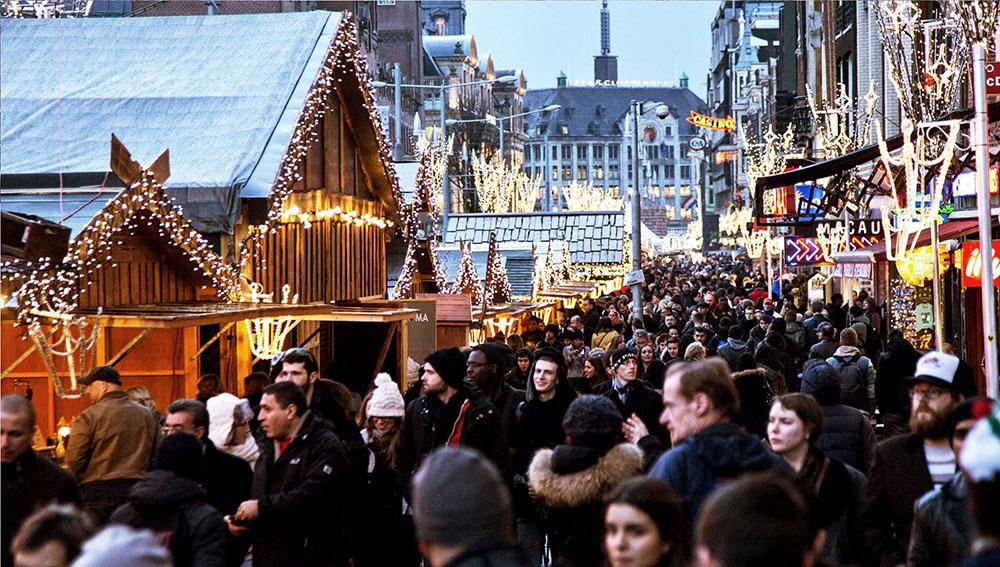 Christmas market in Amsterdam