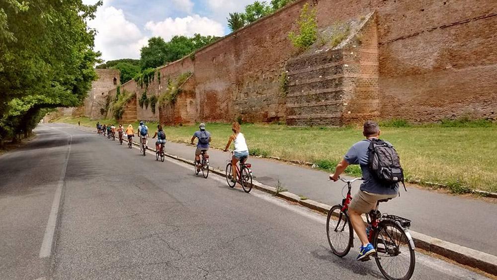 Biking, Rome, Italy