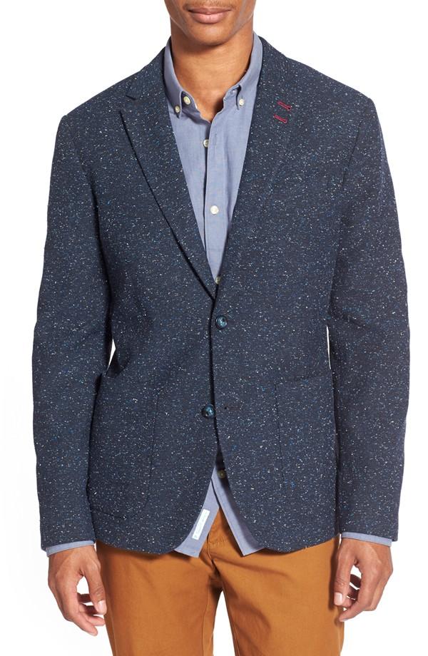 Blue Gray Tweed Jacket