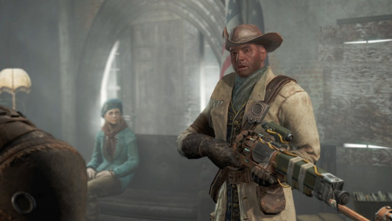 "Preston Garvey says, ""Another settlement needs our help,"" in Fallout 4."