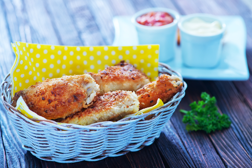 Baked Asiago-Crusted Chicken Tenders