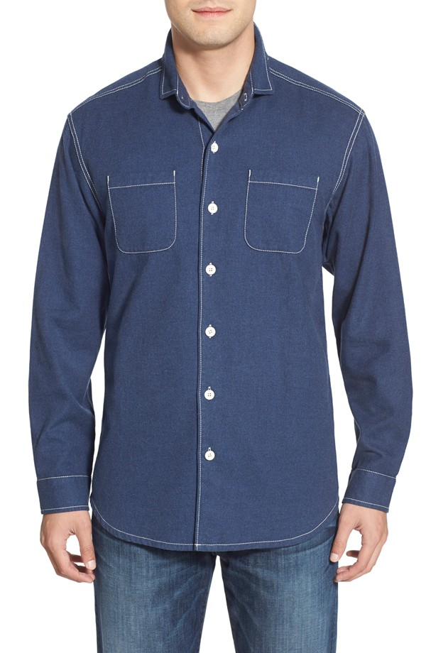 Tommy Bahama 'New Seaside' Original Fit Flannel Shirt