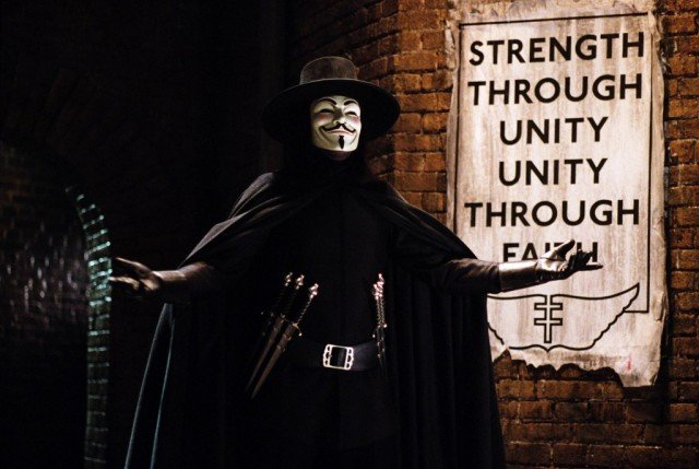 Hugo Weaving in 'V for Vendetta'