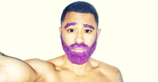 Man with dyed beard