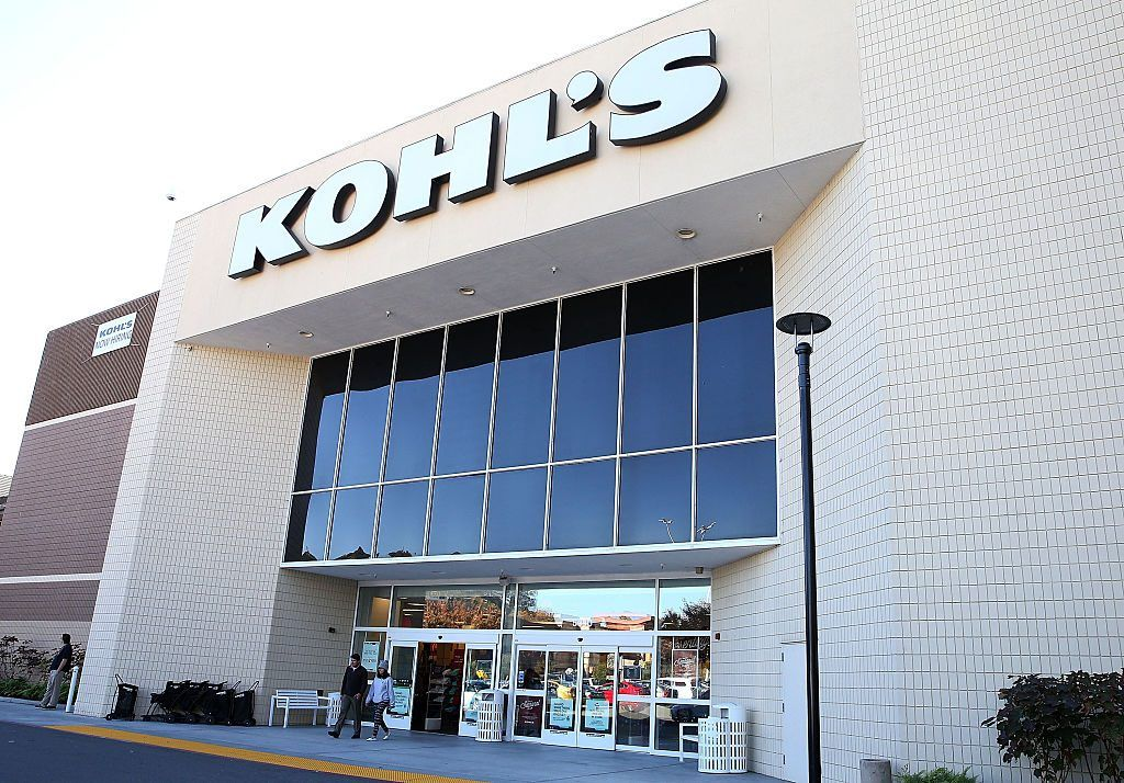 People exiting a Kohl's store