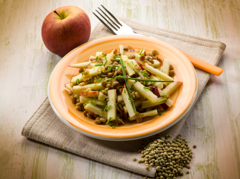 lentil and apple salad