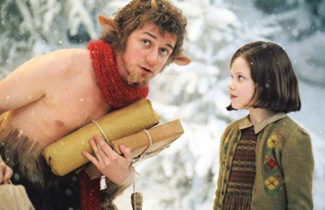 James McAvoy and Georgie Henley in 'The Chronicles of Narnia: The Lion, the Witch and the Wardrobe'