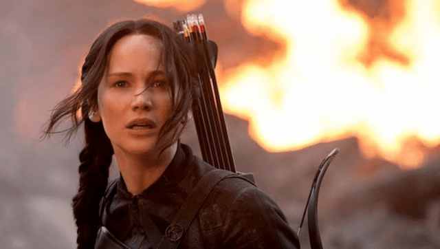 Jennifer Lawrence as Katniss Everdeen in 'The Hunger Games: Mockingjay - Part 1'