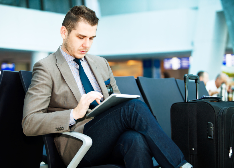 airport, travel, tablet