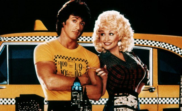 Sylvester Stallone and Dolly Parton in Rhinestone