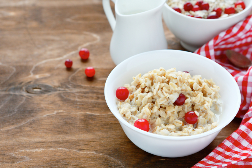 oatmeal, cranberries, currants