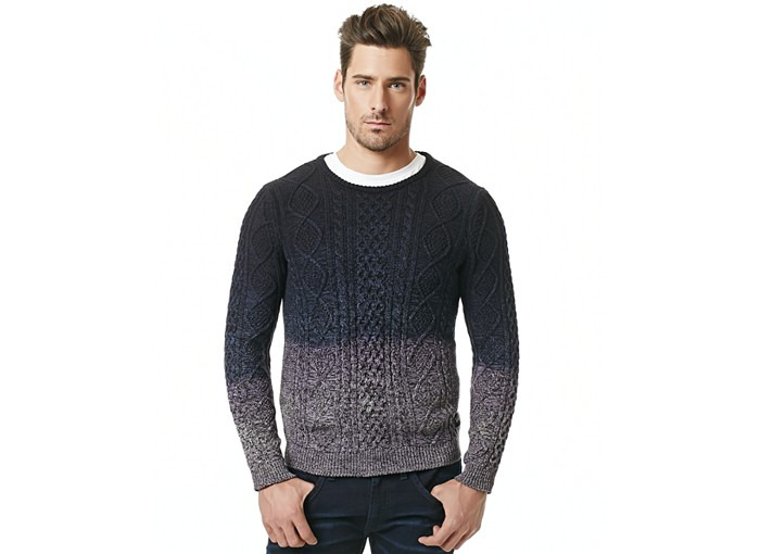 Ombre Cable Knit Sweater
