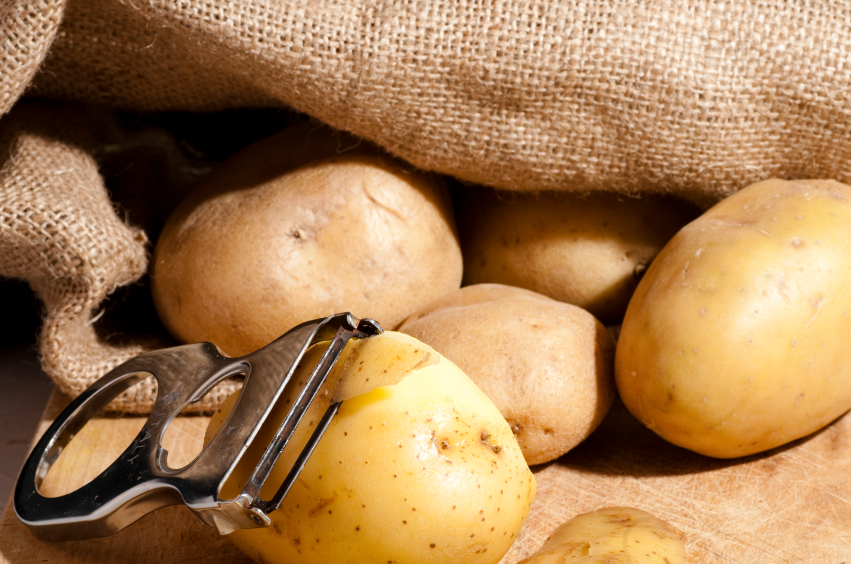 potatoes, vegetable peeler