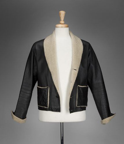 A shearling-lined jacket on display