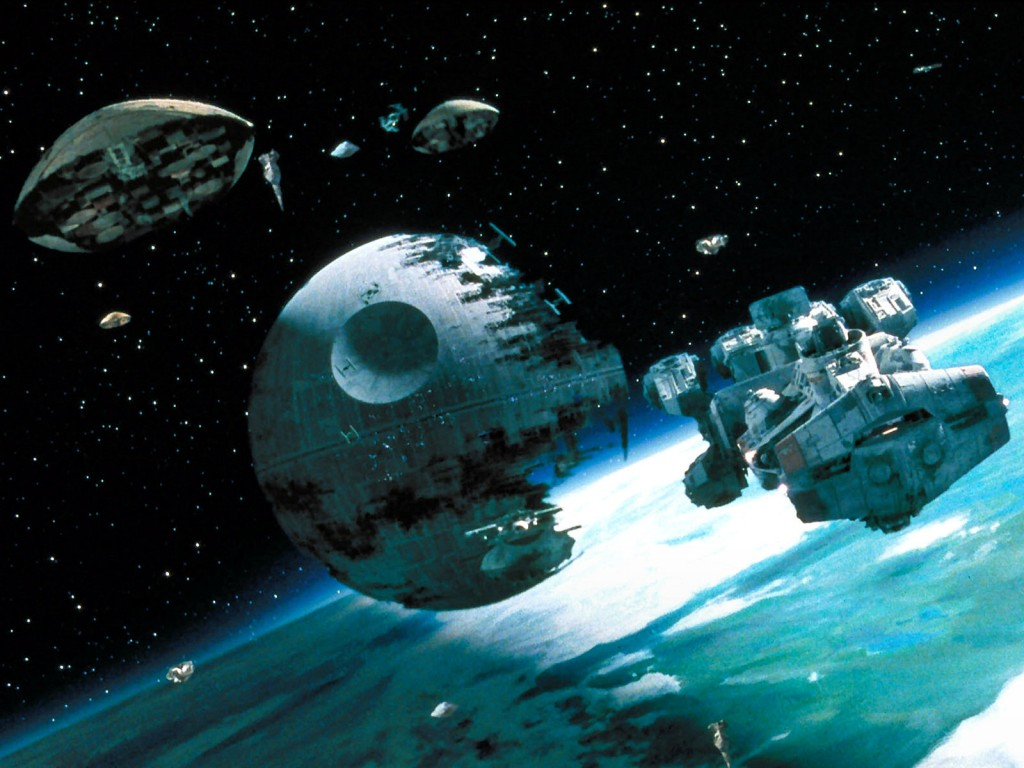The Death Star from the Star Wars films