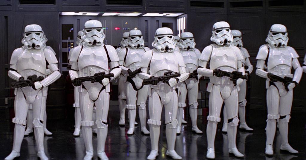 Stormtroopers in Star Wars