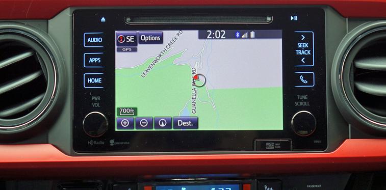 Toyota Tacoma TRD navigation system