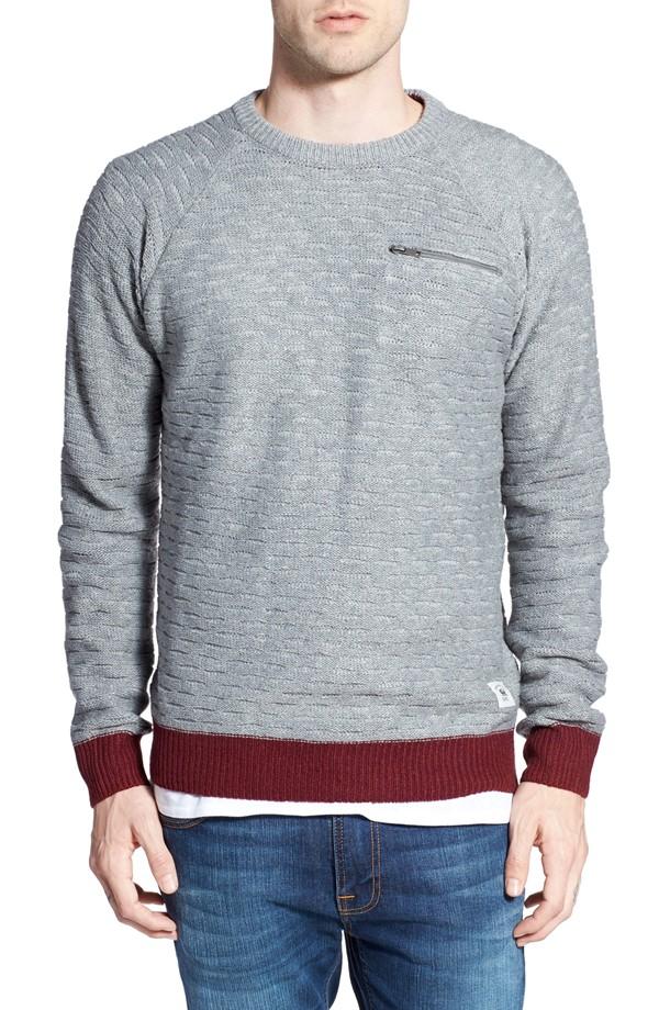 Textured Ladder Knit Sweater