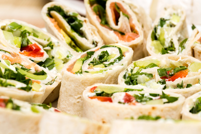 veggie wraps with hummus