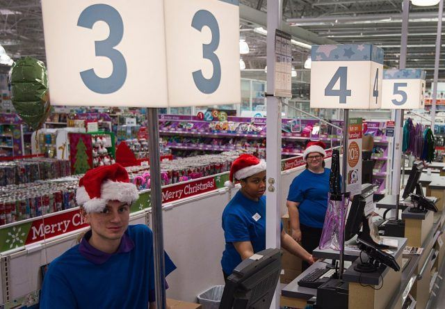 cashiers waiting for customers