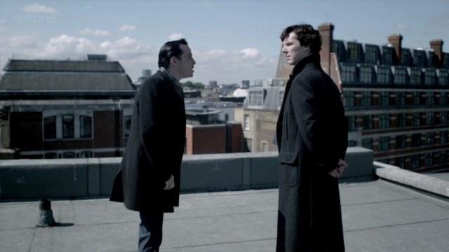 Andrew Scott and Benedict Cumberbatch in 'Sherlock'