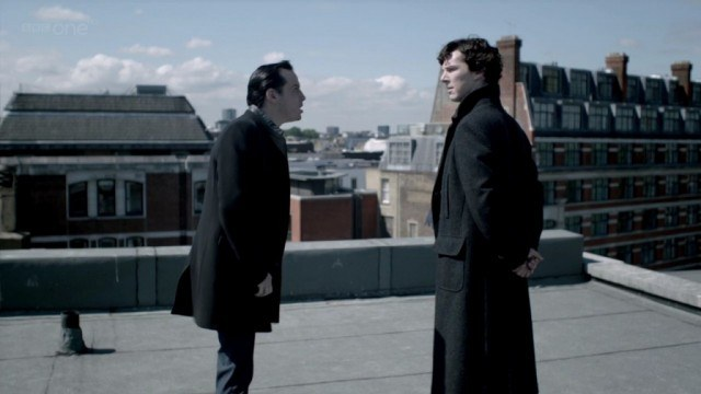 Andrew Scott and Benedict Cumberbatch in 'Sherlock'